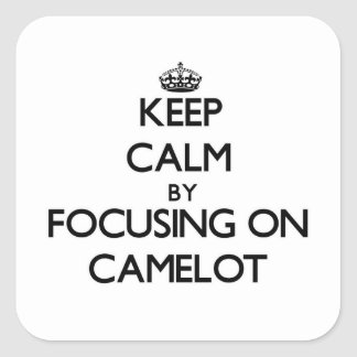 Keep Calm by focusing on Camelot Sticker