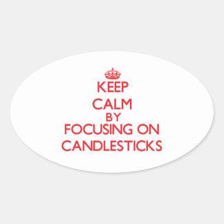 Keep Calm by focusing on Candlesticks Sticker