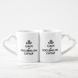 Keep Calm by focusing on Catsup Couples Mug