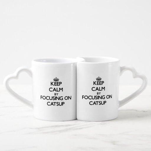 Keep Calm by focusing on Catsup Couples Mug