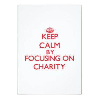Keep Calm by focusing on Charity Custom Invitation