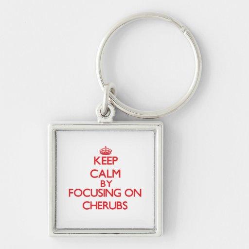 Keep Calm by focusing on Cherubs Key Chain