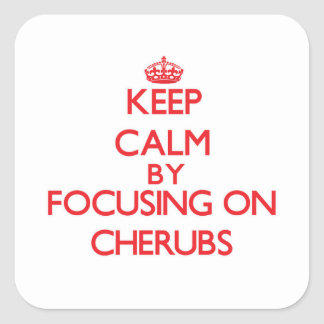 Keep Calm by focusing on Cherubs Sticker