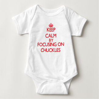 Keep Calm by focusing on Chuckles Baby Bodysuit