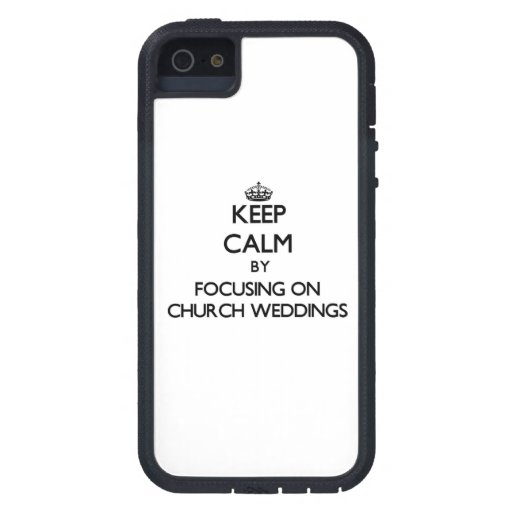 Keep Calm by focusing on Church Weddings iPhone 5 Case