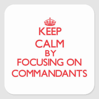 Keep Calm by focusing on Commandants Stickers
