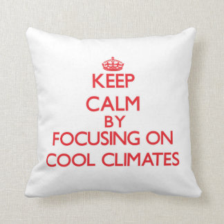 Keep Calm by focusing on Cool Climates Pillows