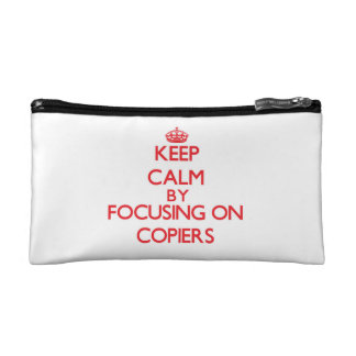 Keep Calm by focusing on Copiers Cosmetic Bag