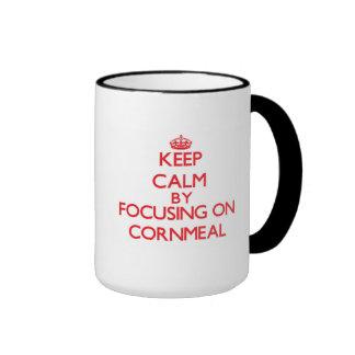 Keep Calm by focusing on Cornmeal Coffee Mugs