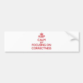 Keep Calm by focusing on Correctness Bumper Sticker