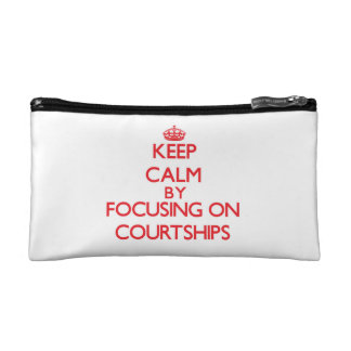 Keep Calm by focusing on Courtships Cosmetic Bags