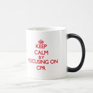 Keep Calm by focusing on Cpr Coffee Mugs