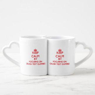 Keep Calm by focusing on Crash Test Dummies Lovers Mug Sets