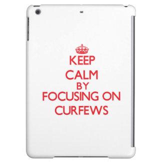 Keep Calm by focusing on Curfews iPad Air Case