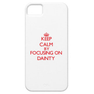 Keep Calm by focusing on Dainty iPhone 5/5S Cases