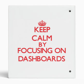Keep Calm by focusing on Dashboards Binder