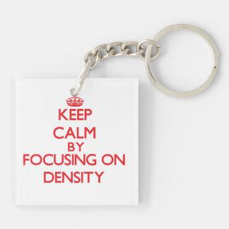 Keep Calm by focusing on Density Acrylic Key Chain