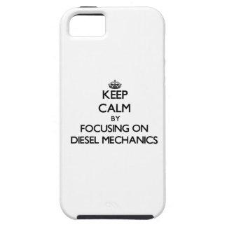 Keep calm by focusing on Diesel Mechanics iPhone 5 Cases