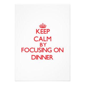 Keep Calm by focusing on Dinner Card