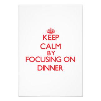 Keep Calm by focusing on Dinner Custom Invite