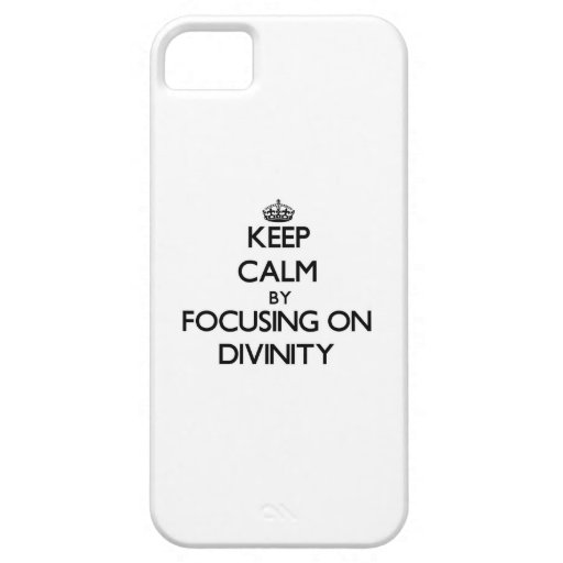 Keep Calm by focusing on Divinity iPhone 5 Cover