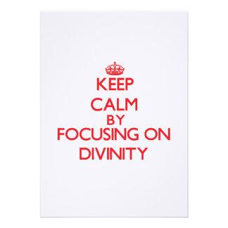 Keep Calm by focusing on Divinity Custom Invites
