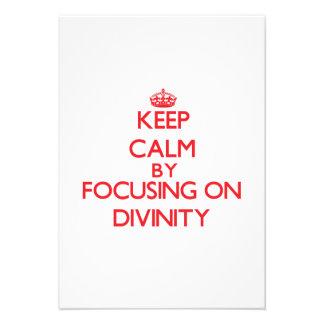 Keep Calm by focusing on Divinity Custom Invitations