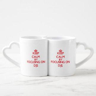 Keep Calm by focusing on DJs Couple Mugs
