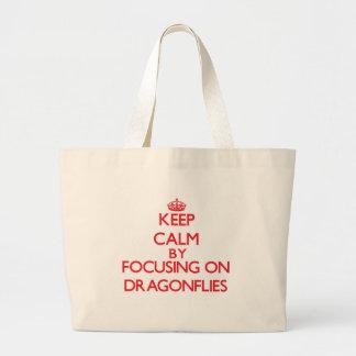 Keep Calm by focusing on Dragonflies Bag
