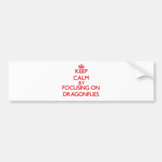 Keep Calm by focusing on Dragonflies Bumper Stickers