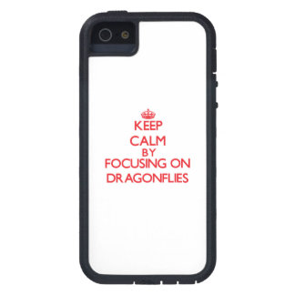 Keep Calm by focusing on Dragonflies iPhone 5 Case