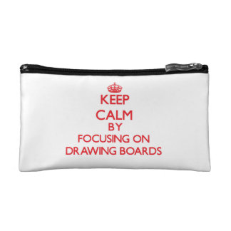 Keep Calm by focusing on Drawing Boards Makeup Bags