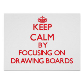 Keep Calm by focusing on Drawing Boards Posters