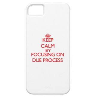 Keep Calm by focusing on Due Process Cover For iPhone 5/5S