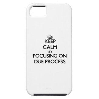 Keep Calm by focusing on Due Process iPhone 5 Case