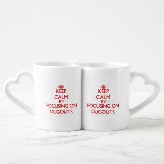 Keep Calm by focusing on Dugouts Lovers Mug Set