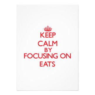 Keep Calm by focusing on EATS Custom Invitations