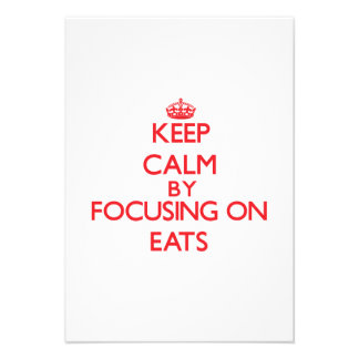 Keep Calm by focusing on EATS Personalized Invites