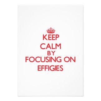 Keep Calm by focusing on EFFIGIES Custom Announcements