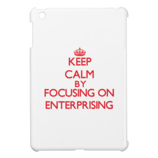 Keep Calm by focusing on ENTERPRISING iPad Mini Covers