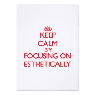 Keep Calm by focusing on ESTHETICALLY Custom Announcement