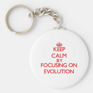 Keep Calm by focusing on EVOLUTION Keychain
