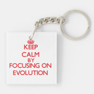 Keep Calm by focusing on EVOLUTION Acrylic Key Chains