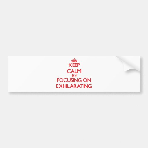Keep Calm by focusing on EXHILARATING Bumper Stickers
