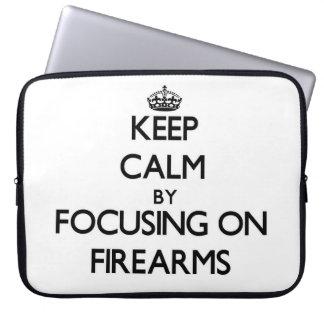 Keep Calm by focusing on Firearms Computer Sleeve