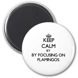 Keep calm by focusing on Flamingos Magnet