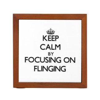 Keep Calm by focusing on Flinging Pencil Holder