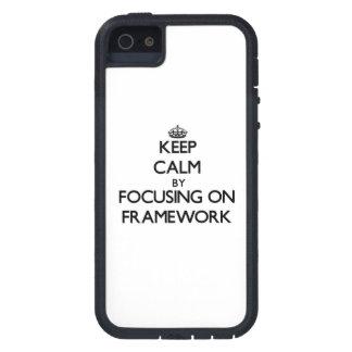 Keep Calm by focusing on Framework iPhone 5 Case