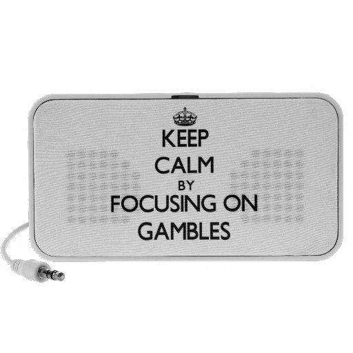 Keep Calm by focusing on Gambles Travelling Speakers