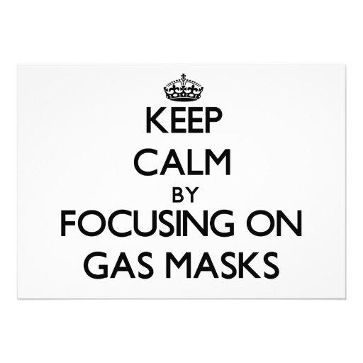 Keep Calm by focusing on Gas Masks Card